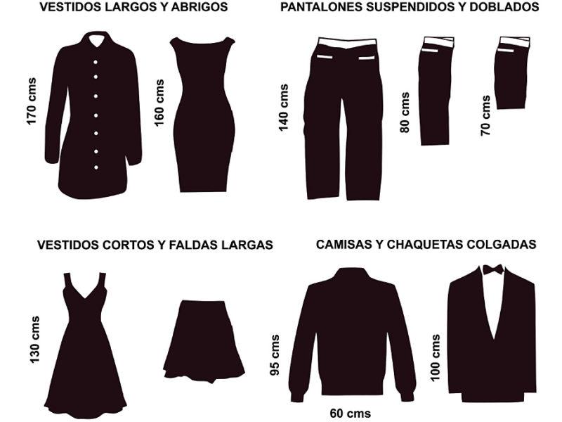Dimensiones de referencia armarios
