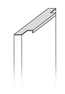 Modelo puerta baño Tirador Inverso